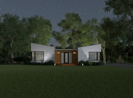 Domino House at Night